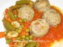 Albóndigas en salsa con verduras Thermomix