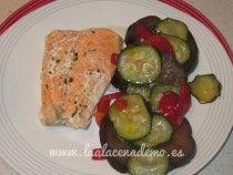 Salmón con verduras Thermomix