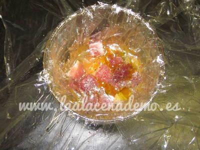 Paso 1: añadir sal, pimienta y jamón