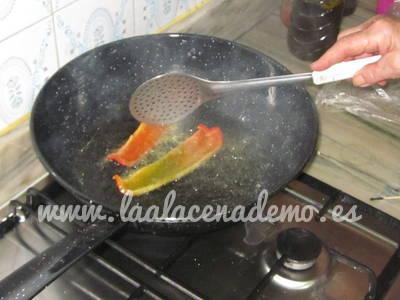Paso 2: freír el pimiento