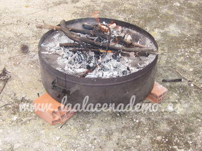 Paso 9: fuego en la costrera