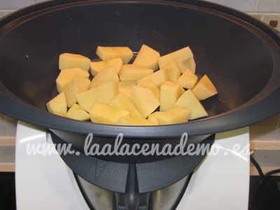 Paso 2: cocinar las patatas al vapor