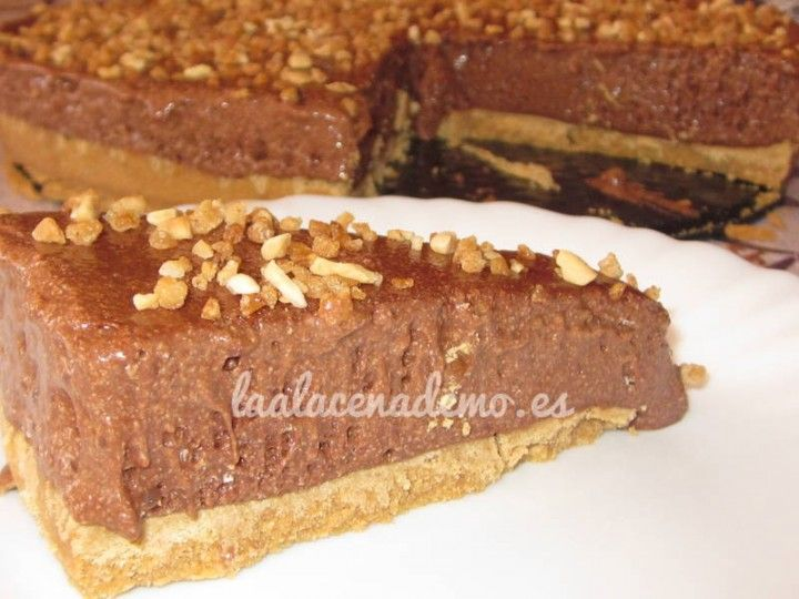 Tarta de mousse de chocolate con thermomix
