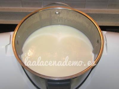 Paso 5: mezcla antes de repartir en vasitos