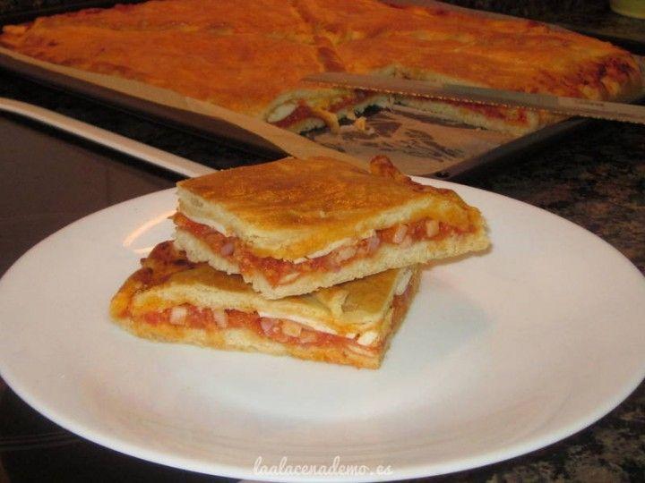Empanada de boloñesa, bacon y huevo con Thermomix