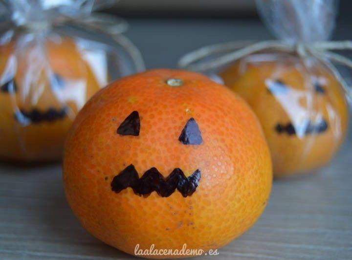 Calabazas de halloween con mandarinas la alacena de mo - Calabazas pintadas para halloween ...