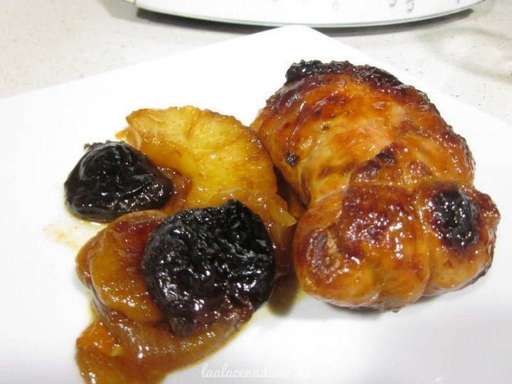 Contramuslos de pollo relleno al Pedro Ximénez