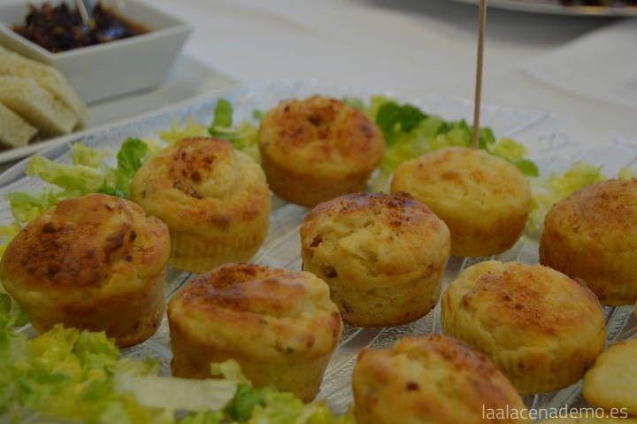 Muffins salados de queso de cabra