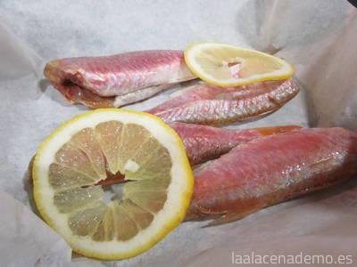 Paso 2: prepara los salmonetes