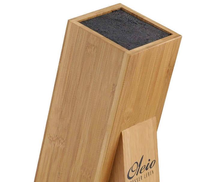 Soporte cuchillos flexible de bambú