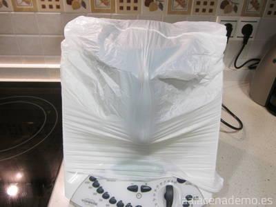 Paso 5: deja reposar dentro del Thermomix cubierto con una bolsa o paño