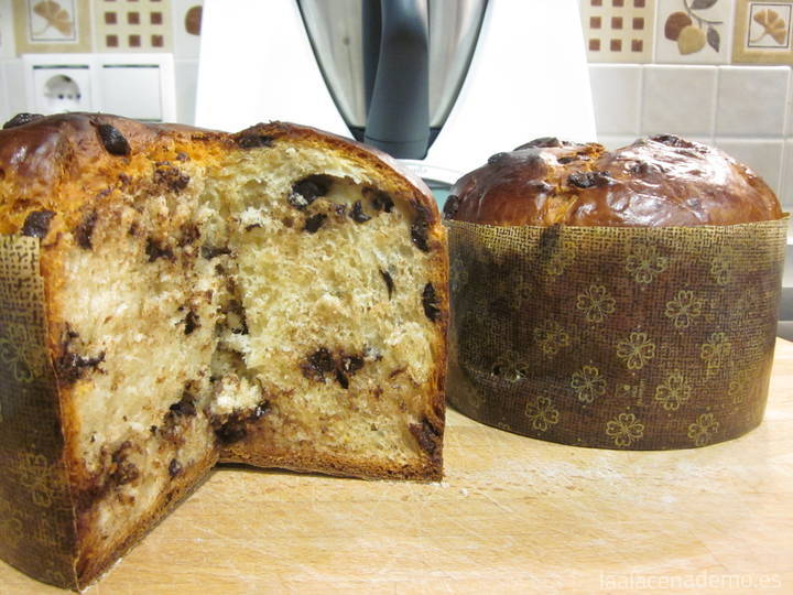 Panettone con pepitas de chocolate Thermomix