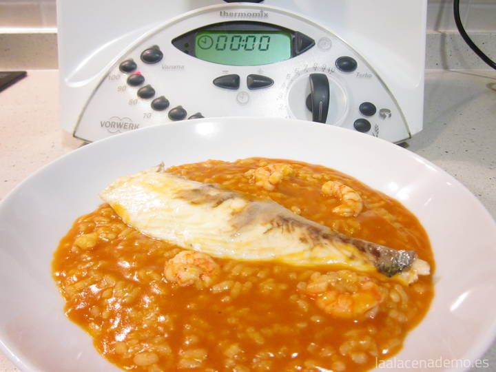 Arroz meloso de rape Thermomix