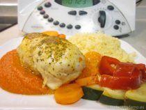 Pollo marinado con verduras y cuscús Thermomix