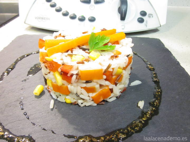 Ensalada de arroz con Thermomix