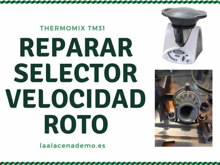 Reparar selector velocidad Thermomix TM31
