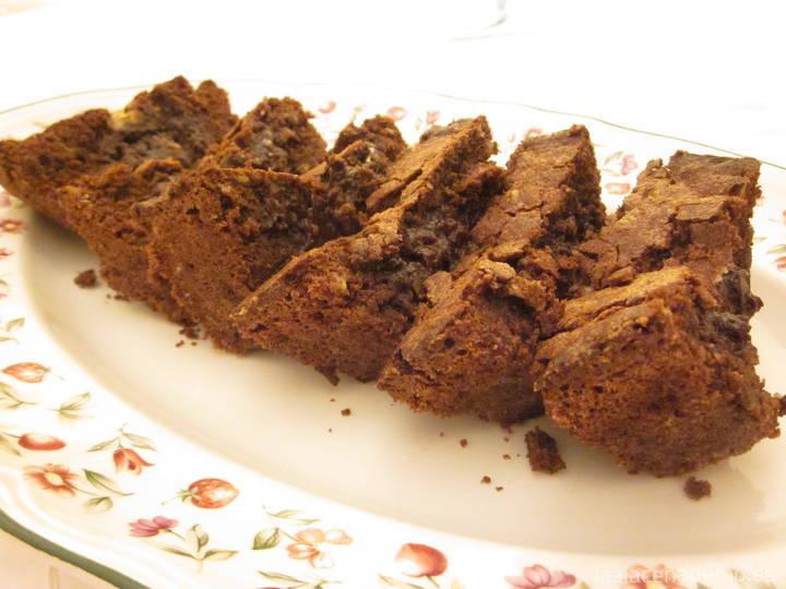 Brownie chocolate y nueces con thermomix, receta auténtica americana de EEUU