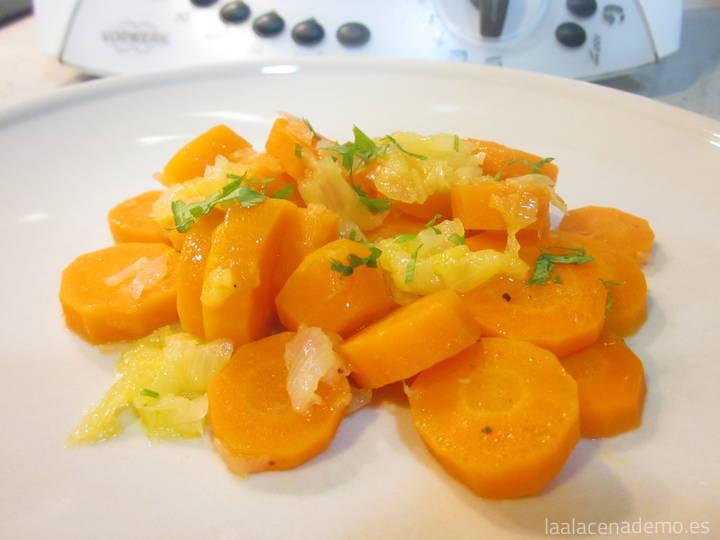 Zanahorias encebolladas con Thermomix