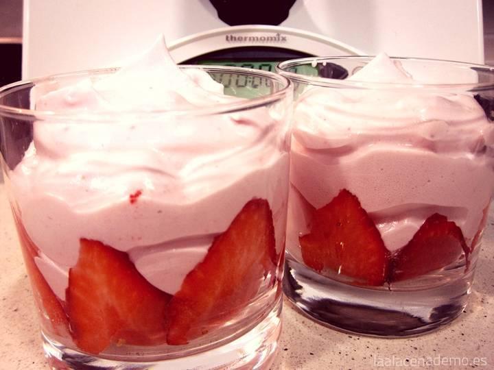 Espuma de Fresas con Thermomix