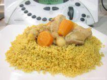 Cuscús con pollo, verduras y garbanzos en Thermomix