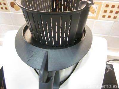Paso 6: coloca el cestillo en lugar del cubilete para que evapore bien.
