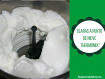 Montar claras a punto de nieve con Thermomix