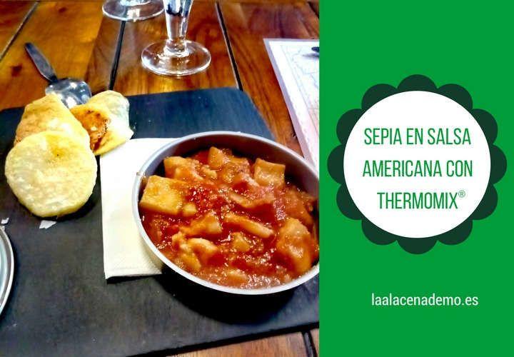 Sepia en salsa americana con Thermomix
