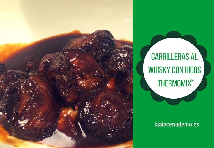 Carrilleras al Whisky con higos en Thermomix