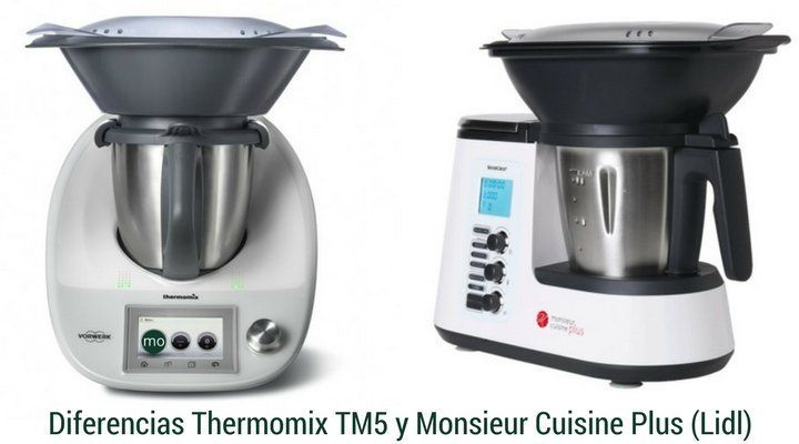 Diferencias thermomix y monsieur cuisine lidl la alacena for Robot menager monsieur cuisine plus