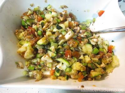 Paso 4: trocea las verduras